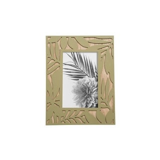 Link to Foreside Home & Garden 4 x 6 inch Green Leaf Pattern Decorative Wood Picture Frame Similar Items in Decorative Accessories