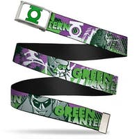 Green Lantern Logo Close Up Fcg White Green Chrome Green Lantern Web Belt