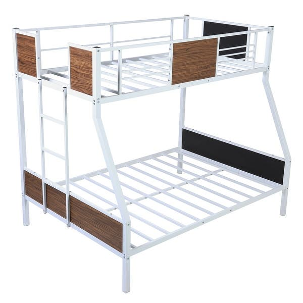 Moda Twin Over Full Bunk Bed Modern Style Steel Frame Safety Rail Overstock 32661154