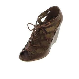 Mia Womens Quincy Faux Leather Cut-Out Lace-Up Heels - 7.5 medium (b,m)