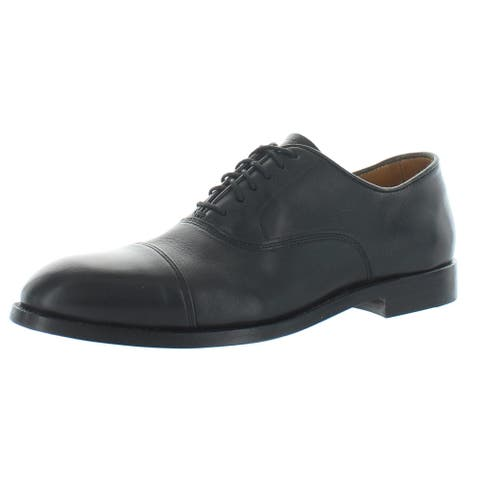 Vince Camuto Mens Eeric Oxfords Leather Cap Toe - Black Boxer Leather
