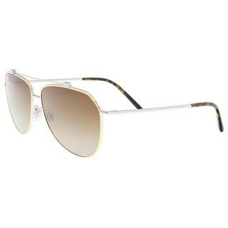 Dolce & Gabbana DG2190 129713 Gold/ Silver Aviator Sunglasses - 59-13-140