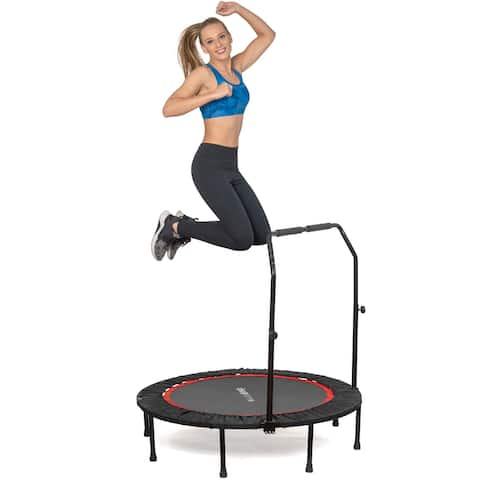 """Deco Home 48"""" Indoor/Outdoor Fitness Trampoline with Handle Bar"""