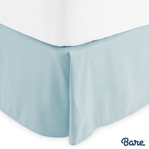 Bare Home 15-inch Drop Brushed Microfiber Bed Skirt Pleated Dust Ruffle