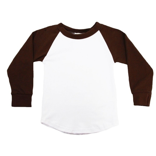 Unisex Baby Brown Two Tone Long Sleeve Raglan Baseball T-Shirt 6-12M