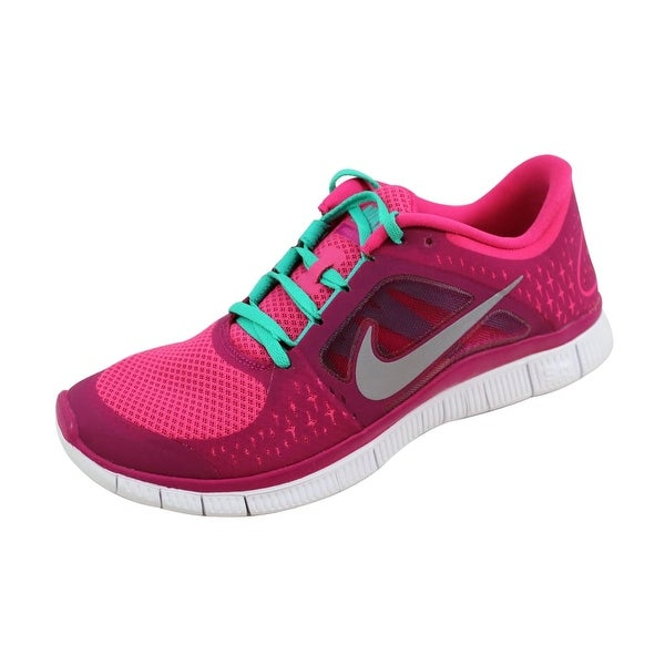 Nike Women's Free Run+ 3 Pink Force/Reflect Silver-Sport Fuchsia 510643-644