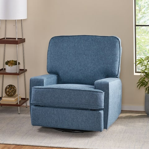 Crockett Traditional Glider Recliner with Swivel by Christopher Knight Home
