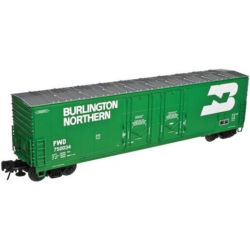 HO Scale - Atlas Evans 53' Double Plug-Door Boxcar Burlington Northern  75002 - Green