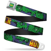 Marvel Comics The Hulk Full Color The Incredible Hulk Action Poses Purple Seatbelt Belt