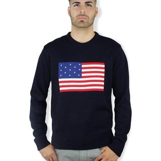 American Flag Sweater (SW-911) (Option: Navy)