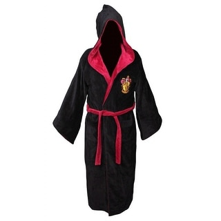 Harry Potter Gryffindor Adult Cotton Hooded Bathrobe