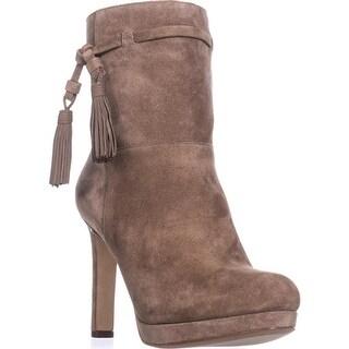 Via Spiga Bristol Pull On Tassel Ankle Boots, Dark Taupe - 7.5 us / 37.5 eu