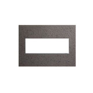 Legrand AWM3GHFFE1 adorne Hubbardton Forge 3 Gang Hand-Forged Metal Wall Plate - 7.1 Inches Wide - natural iron