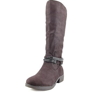 Style & Co. Womens Wardd WIDE CALF Closed Toe Mid-Calf Motorcycle Boots
