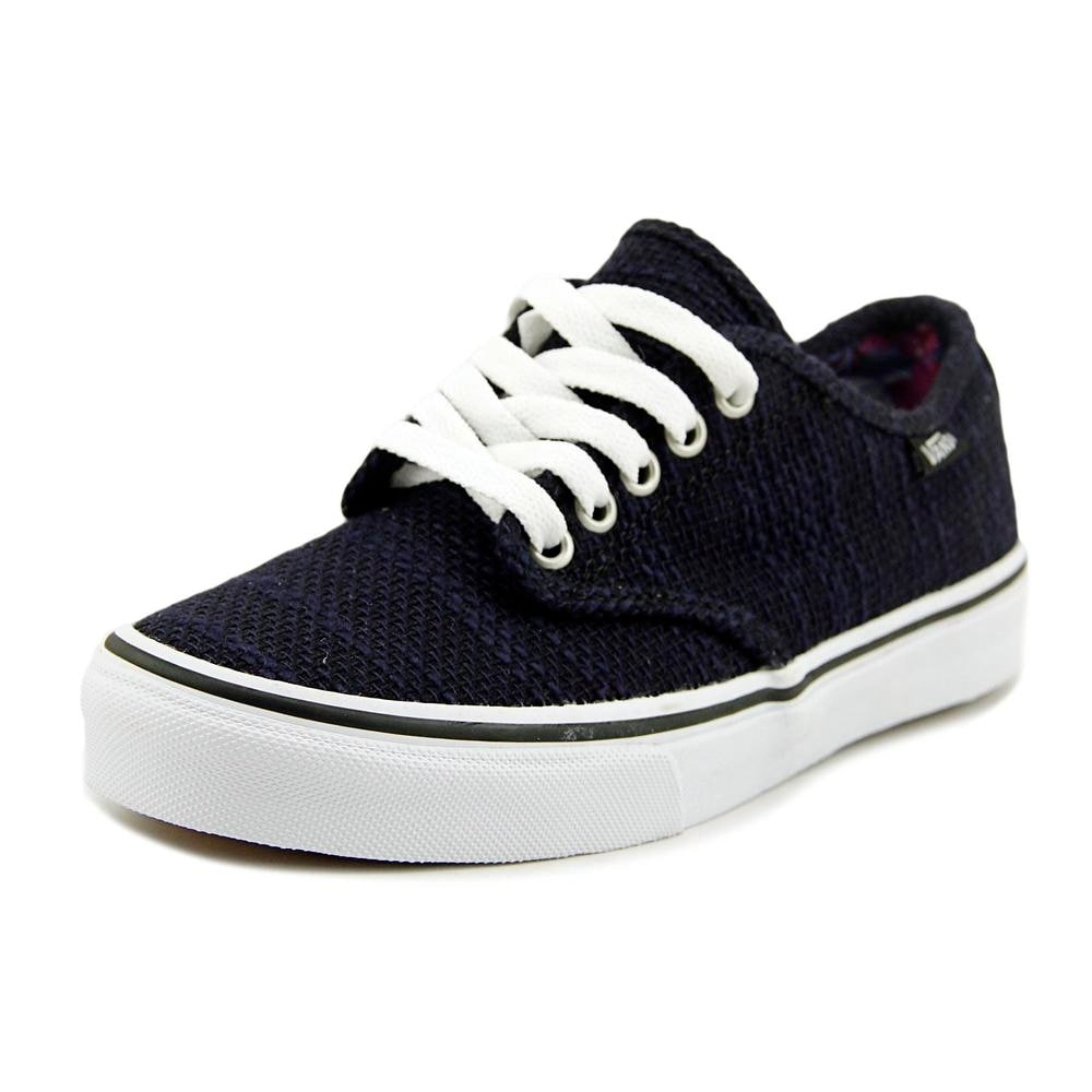 Stripe Texture Lace Up Sneakers Canvas Skate Shoes for Men Round Toe