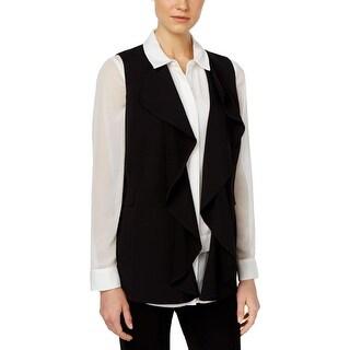 Calvin Klein Womens Vest Crepe Drapey