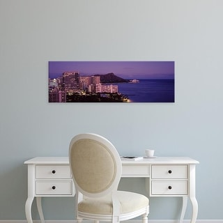 Easy Art Prints Panoramic Image 'Buildings at waterfront, Waikiki, Honolulu, Oahu, Honolulu County, Hawaii' Canvas Art