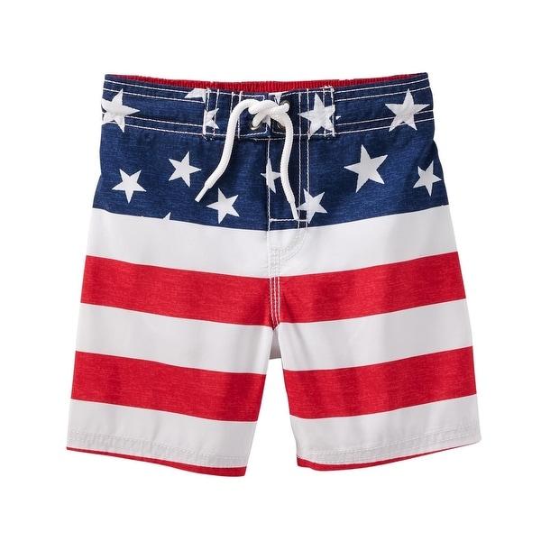 OshKosh B'gosh Big Boys' Americana Swim Trunks