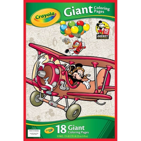 Shop Crayola Giant Coloring Pages 12 75 X19 5 Mickey S 90th