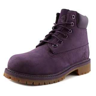 Timberland 6in Prem Youth Round Toe Leather Purple Boot
