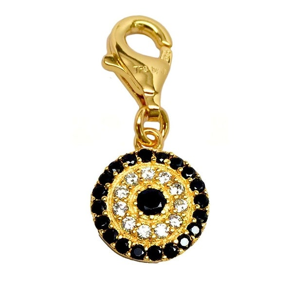 Julieta Jewelry CZ Lucky Eye Gold Sterling Silver Charm