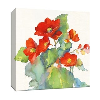 """PTM Images 9-147393  PTM Canvas Collection 12"""" x 12"""" - """"Begonia II"""" Giclee Flowers Art Print on Canvas"""