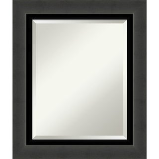 Link to Tuxedo Black Bathroom Vanity Wall Mirror Similar Items in Rectangular Mirrors