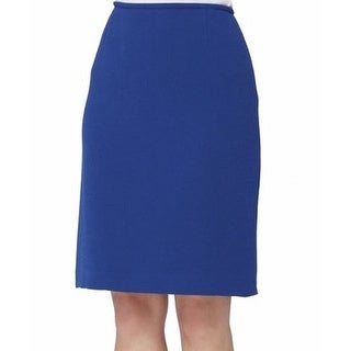 Tahari By ASL NEW Blue Women's Size 10P Petite Straight Pencil Skirt