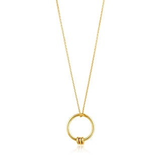 "Modern Circle Necklace - Shiny Gold - 23.8"""