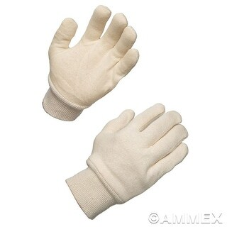 AMMEX WJ White Jersey Work Gloves (Bag of 12 pairs) (Option: S)