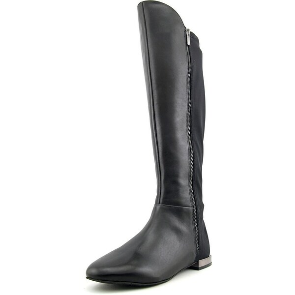 Tahari Ramses 2 Women Round Toe Leather Black Knee High Boot