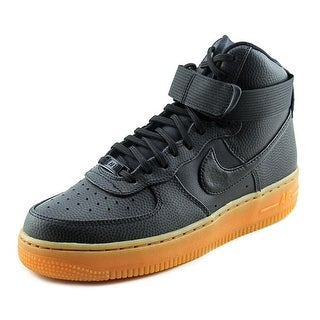 Nike Air Force 1 Hi Women Round Toe Leather Black Basketball Shoe