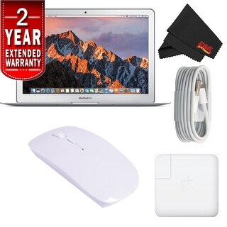 "Apple 13.3"" MacBook Air 128GB SSD #MQD32LL/A (Newest Version) With 2 Year Extended Warranty Starter Bundle"