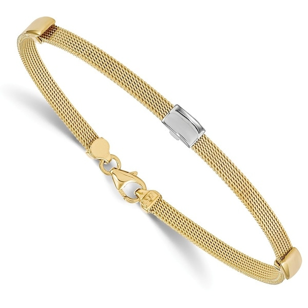 Italian 14k Two-Tone Gold Bracelet - 7 inches