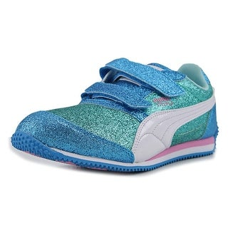 Puma Steeple Glitz Glam V Ps Youth Round Toe Synthetic Blue Sneakers