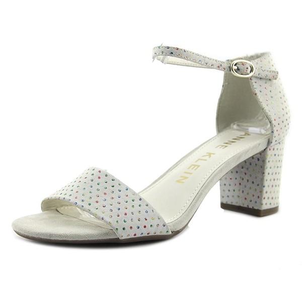 Anne Klein Camila Women Open Toe Leather White Sandals