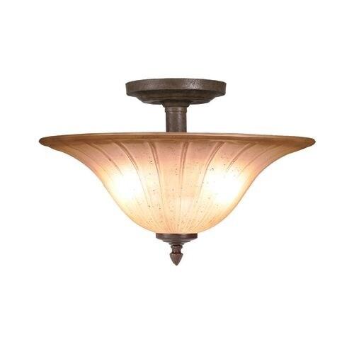 Woodbridge Lighting 38003 Broadmore 2 Light Bordeaux Semi Flush Mount