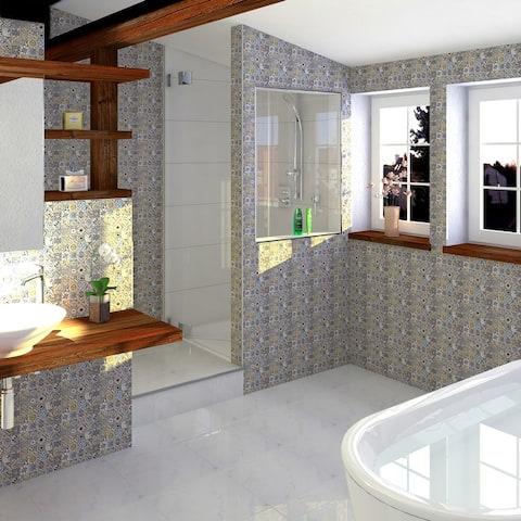 """SomerTile Avila Arenal Decor 12.5"""" x 12.5"""" Ceramic Floor and Wall Tile"""