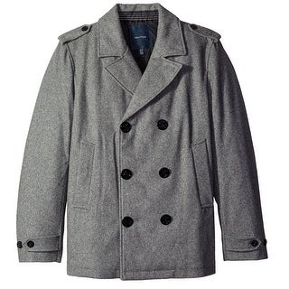 Nautica NEW Gray Mens Size XL Double Breasted Wool Peacoat Coat
