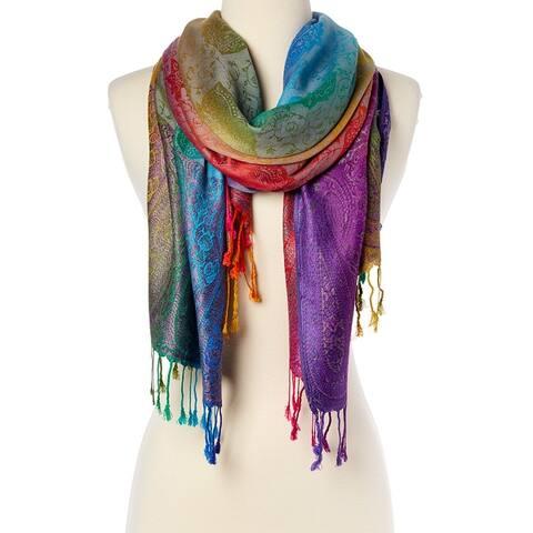 Womens Fashion Silk Scarf Luxury Shawl Wraps Scarves