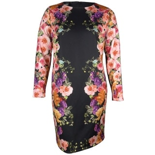 INC Women's Floral Print Sheath Dress