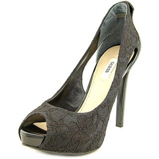Guess Harrah 2 Open Toe Canvas Platform Heel