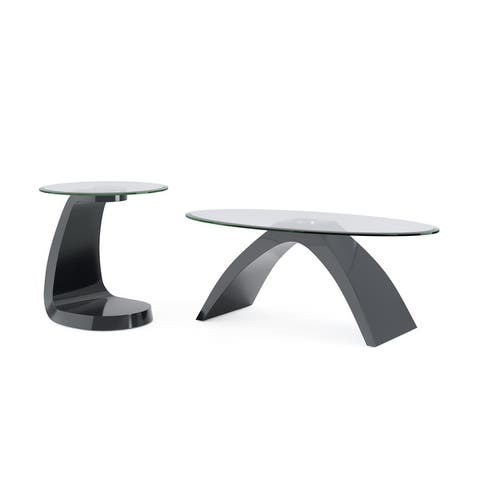 Furniture of America Crescendo Modern 2-piece Table Set