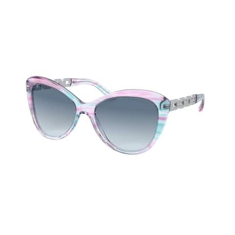 Ralph Lauren RL8184 583219 56 Shiny Striped Violet Woman Butterfly Sunglasses