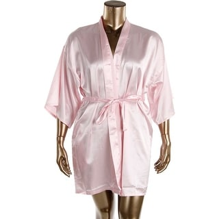 VEAMI Womens Satin Short Sleeves Short Robe - XL