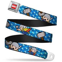 Marvel Universe Marvel Full Color Red White Kawaii Thor Poses Hammer Seatbelt Belt