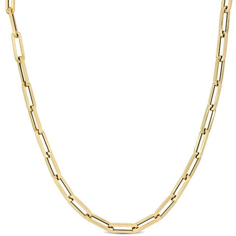 Miadora 14k Yellow Gold Oval Link Necklace