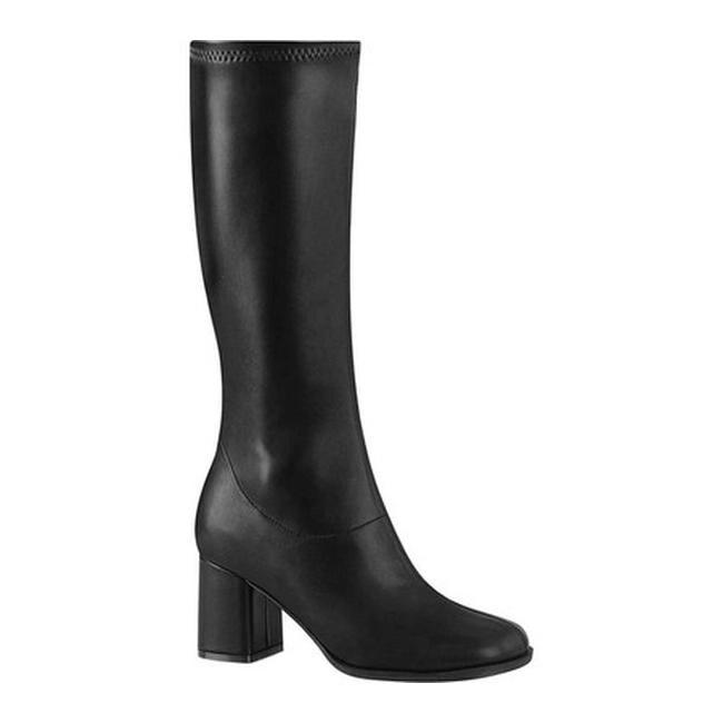 GOGO 300HQ, 3 Heel Ankle Gogo Costume Boot in BlackRed