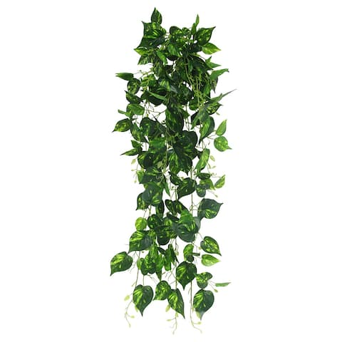 "Pothos Leaf Ivy Hanging Greenery Bush UV Resistant Indoor Outdoor 49in - 49"" L x 15"" W x 9"" DP"