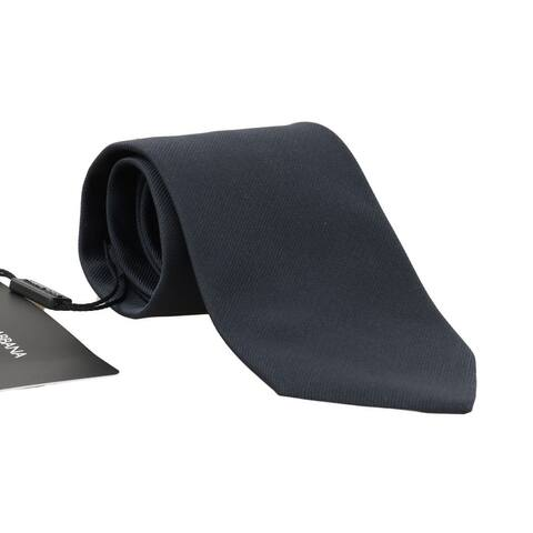 Dolce & Gabbana Blue Silk Solid Wide Men's Tie - One Size